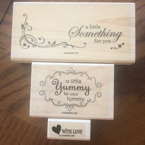 Stampin Up Yummy stamp set of 3 stamps